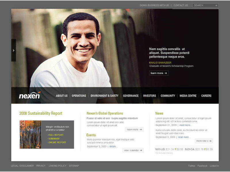 Nexen Inc Website