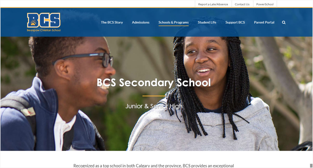 Bearspaw Christian School Website